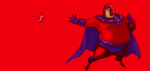 Magneto gone fat by gwinchy
