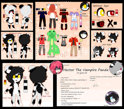 Referencia Hector The Vampire Panda by NielaAdopts