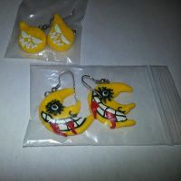 Soul Eater earrings by MadHouseTrinkets