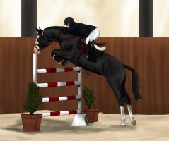 Show jumping Reve - 2nd place by Starblas