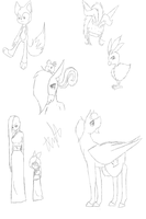 Requested sketches by AnaMarina22