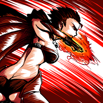 Red Cord - Flame Spear Attack by Bakukon