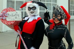 Harley Quinn and Catwoman! by Lady-Ha-ha