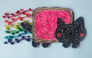 Quilling - Nyan Cat by Sszymon14