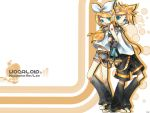 Kagamine Rin and Len Wallpaper by shadowroc