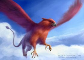 Red Griffin by AnthonyDevine