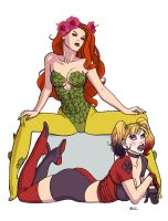 Harley Quinn and Poison Ivy by Ric1975