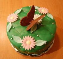 Butterfly Cake by TinLady