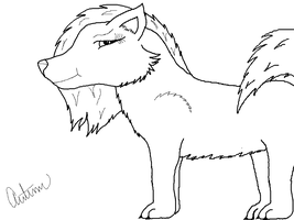New Wolf drawing c: by Cintronus