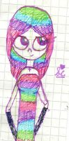 multicolor girl by sofiamariefan