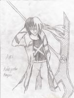 Axel and his huge a$$ Scythe by ReneReaper