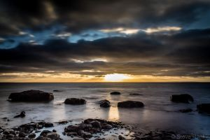 Rocky Shore Sunset by steverankin
