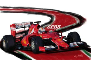 Ferrari SF15-T - Seb5 by ShinjiRHCP