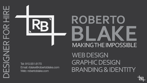Roberto Blake Business Card 1B by OutlawRave