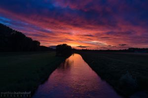 Elsteraue Sunset by MatthiasHaltenhof