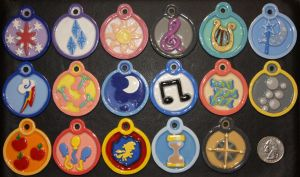Cutie Mark Medallions by CopperFlare
