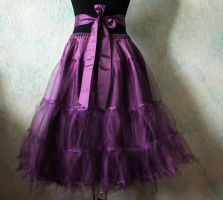 Custom petticoat plus sash tie back by SweetSaurona