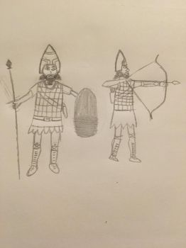 Ancient Soldiers (Rough Sketch) by VDPeruvian