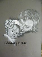 Mommy and Child by Sherry-Wray-Studio