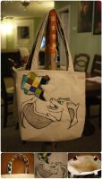 Quilt and Canvas Charizard Tote by 8bitHealey