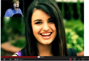 PEWDIE IS SCARED OF REBECCA BLACK by rbmadddrawings