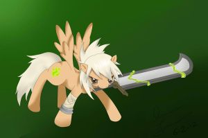 Riven the exiled pony! by ResoluteDawn