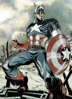 captain America colors by alfret