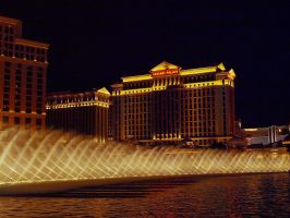 Water Display Bellagio Hotel 03 by abelamario