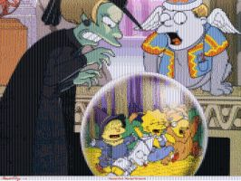 Simpsons Wizard of Oz Mosaic by smallrinilady