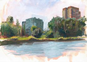 River-study-1 by G-Avoyan