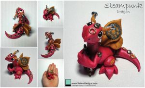 Steampunk Red Dragon by lizzarddesigns