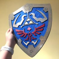 Wooden Zelda Hylian Shield by Athey