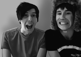Dan and Phil portrait by MissLillyArt