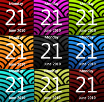 Calendar Colour Pack 2.0 win7 by JoshyCarter