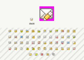 Flat mail pixelate by Andy3ds