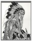 American Indian Ink Stipple by reyjdesigns