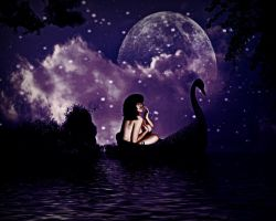 alone on a swan by mysteriousfantasy