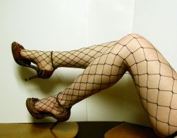Leg - Fishnet Stock19 by NoxieStock