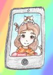 365DaysofDoodles Drawing Challenge: Day 1- Selfie by OpalCrazy