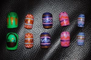 Easter Nail Art by Coall