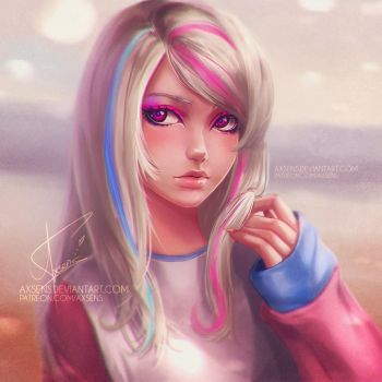 Pink and Blue by Axsens