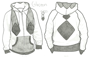 Glaceon Hoodie by LordoftheFuzzys