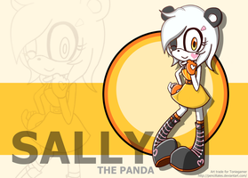 Sally the Panda Sonic art trade FC by PencilTales