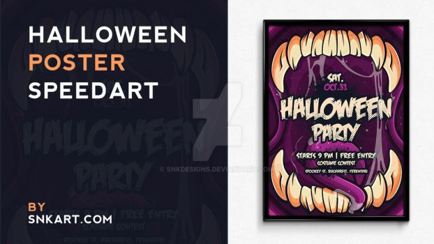Halloween Poster Speedart by snkdesigns