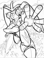 Coloring sheet-Giant robot by Sea-Salt