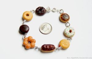 Commission - Assorted Donut Bracelet by Bon-AppetEats