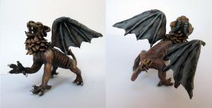 Gargoyle sculpture by Halwen