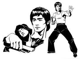 Bruce Lee 1 by davidkawena