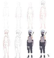 Tutorial Young Kakashi Anbu by Johnny-Wolf