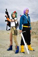 Bulma and Trunks by Zihark-cosplay